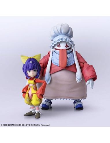 Final Fantasy IX Bring Arts Action Figures Eiko Carol & Quina Quen 9 - 14 cm