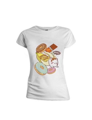 Bananya Ladies T-Shirt Cat Food