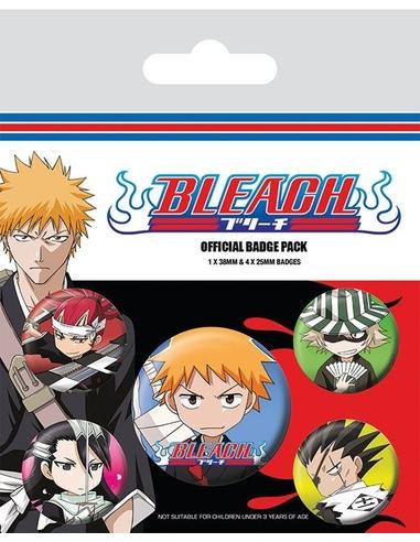Bleach Pin Badges 5-Pack Chibi Characters