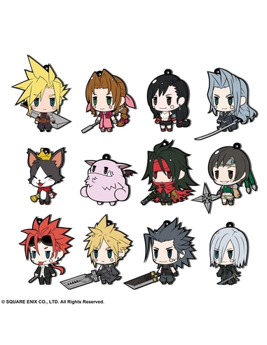 Final Fantasy Rubber Charms 7 cm Assortment FF VII Extended Edition (12)