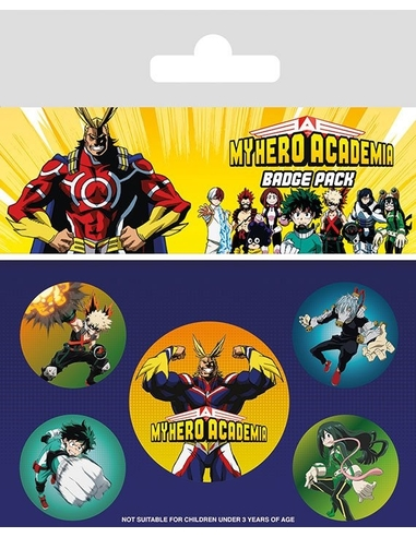 My Hero Academia Pin Badges 5-Pack Characters
