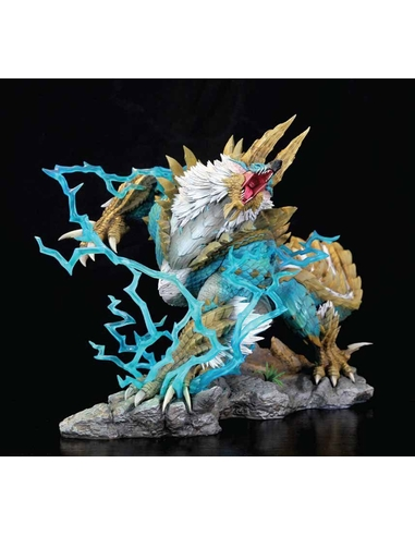 Monster Hunter Zinogre Diorama 1/10 The Thunder Wolf Wyvern 56 cm