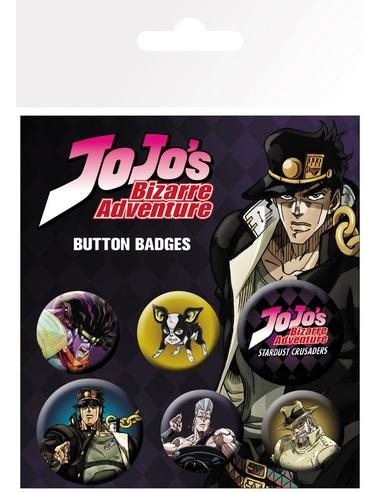 Jojo's Bizarre Adventure Pin Badges 6-Pack Characters