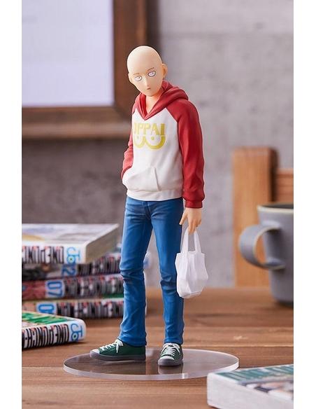 One Punch Man Pop Up Parade PVC Statue Saitama Oppai Hoodie Ver. 17 cm