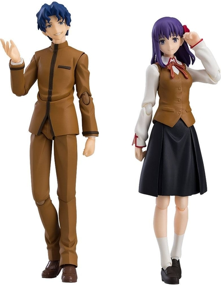 Fate/Stay Night Heaven's Feel Figma Action Figure 2-Pack Shinji Matou & Sakura Matou 14 - 15 cm