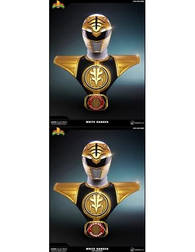 Power Rangers Busts 1/1 White Ranger & White Ranger PCS Exclusive Set 63 cm (2)