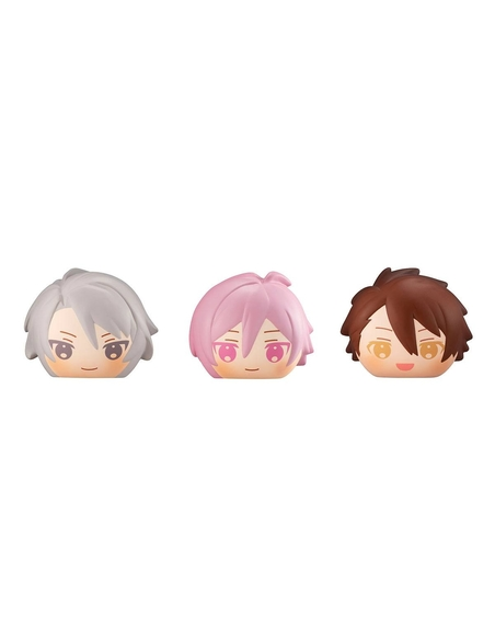Idolish7 Fluffy Squeeze Bread Anti-Stress Figures 8 cm Assortment Trigger & Re -vale (6)