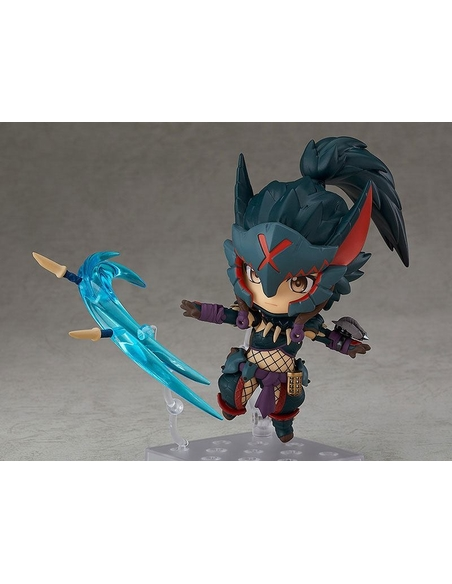 Monster Hunter World Iceborne Nendoroid Action Figure Hunter Female Nargacuga Alpha Armor Ver. 10 cm