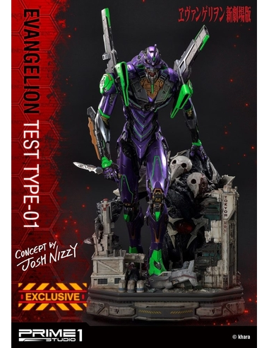 Neon Genesis Evangelion Statues Test Type-01 Concept by Josh Nizzi & Exclusive 68 cm Assortment (3)