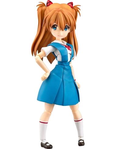 Rebuild of Evangelion Parfom R! Action Figure Asuka Shikinami Langley School Uniform Ver. 14 cm